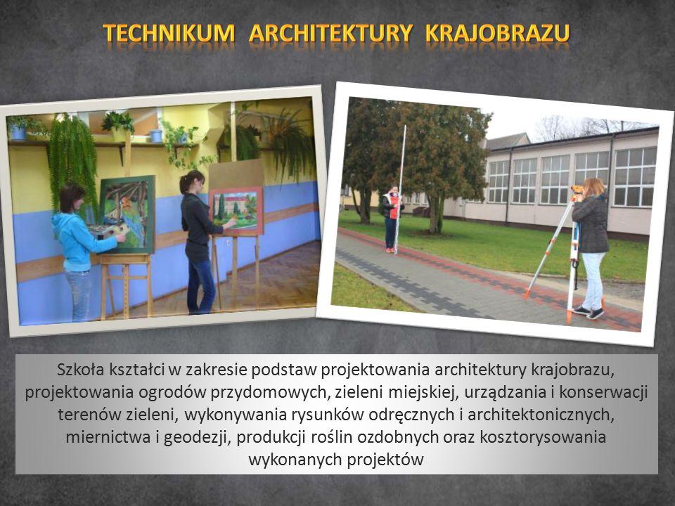 Szkoła kształci w zakresie podstaw projektowania architektury krajobrazu, projektowania ogrodów przydomowych, zieleni miejskiej, urządzania i konserwacji terenów zieleni, wykonywania rysunków odręcznych i architektonicznych, miernictwa i geodezji, produkcji roślin ozdobnych oraz kosztorysowania wykonanych projektów