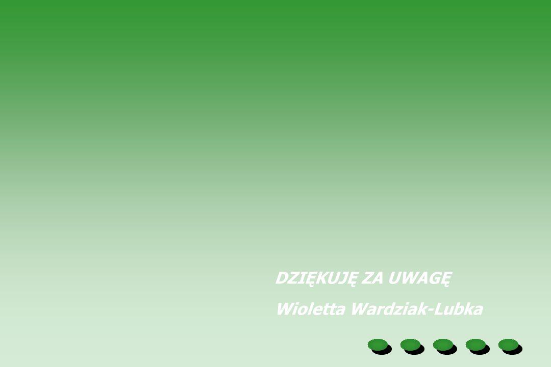 DZIĘKUJĘ ZA UWAGĘ Wioletta Wardziak-Lubka