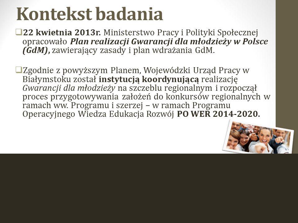Instytucje realizujące Program Gwarancje dla młodzieży w Polsce Zgodnie z Planem działania Programu Gwarancje dla młodzieży w Polsce, realizatorami zaangażowanymi we wdrażanie GdM na szczeblu regionalnym/lokalnym są:  Powiatowe Urzędy Pracy (PUP),  Wojewódzkie Urzędy Pracy (WUP),  Struktury organizacyjne Ochotniczych Hufców Pracy (KW OHP),  Bank Gospodarstwa Krajowego (BGK) za pośrednictwem wyłonionych Pośredników Finansowych,  Partnerzy rynku pracy, w tym partnerzy społeczni, agencje zatrudnienia, organizacje pozarządowe, podmioty ekonomii społecznej, instytucje szkoleniowe, instytucje dialogu społecznego, gminy i pracodawcy wyłonieni do realizacji GdM.