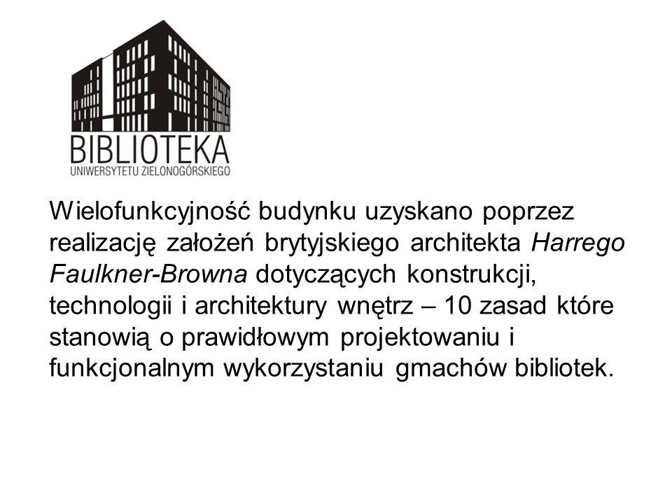 Wielofunkcyjność budynku uzyskano poprzez realizację założeń brytyjskiego architekta Harrego Faulkner-Browna dotyczących konstrukcji, technologii i ar
