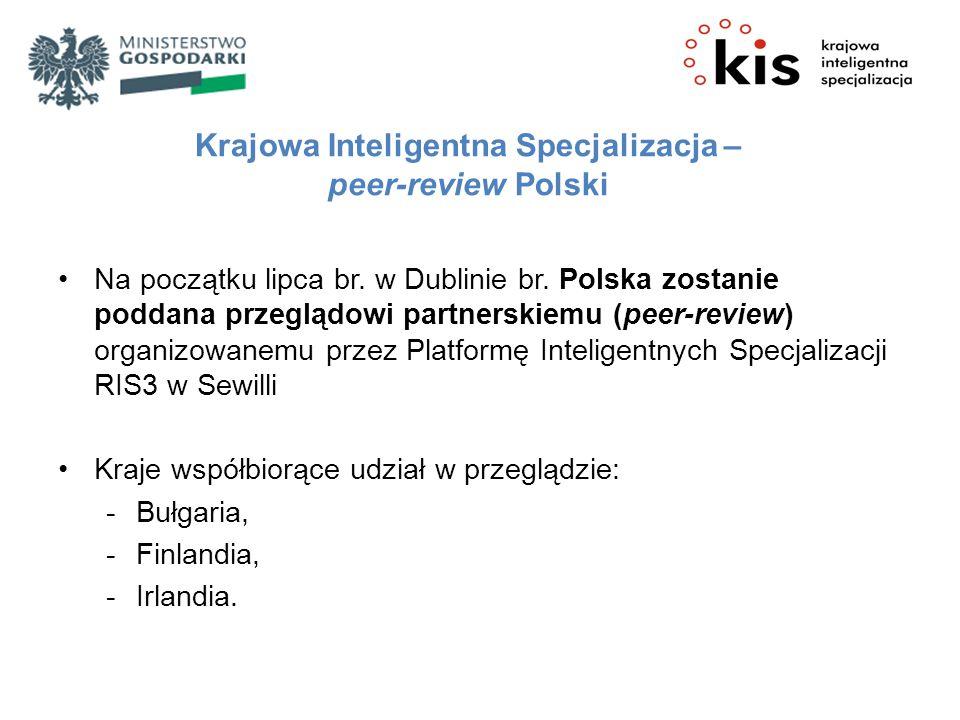 Na początku lipca br. w Dublinie br. Polska zostanie poddana przeglądowi partnerskiemu (peer-review) organizowanemu przez Platformę Inteligentnych Spe