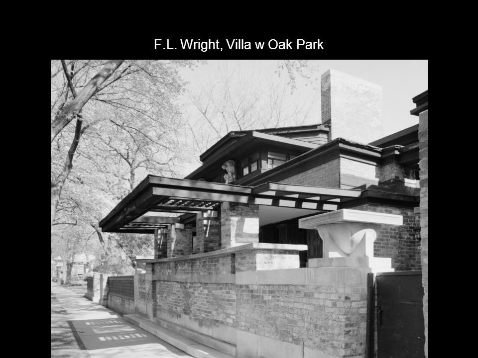 F.L. Wright, Villa w Oak Park