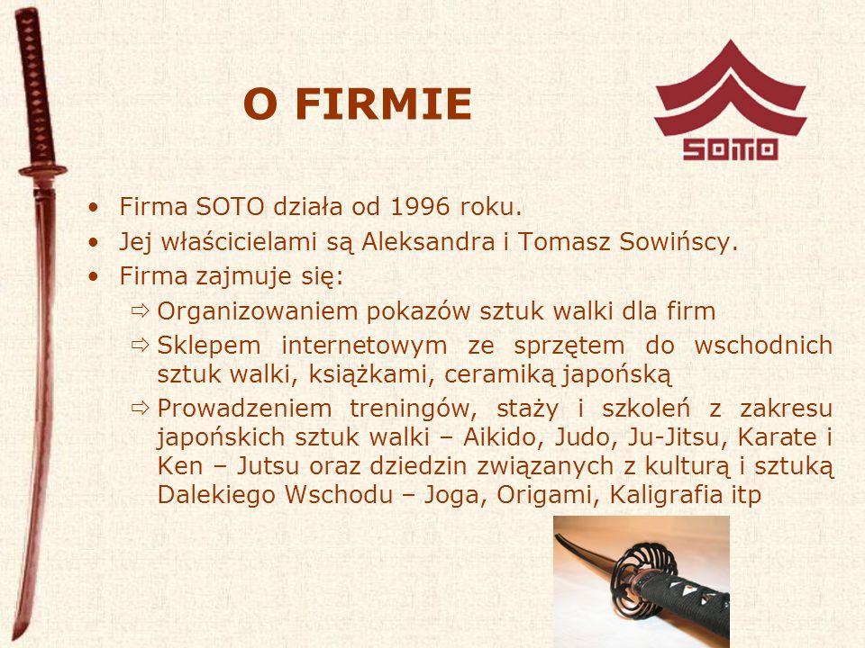 KLUB SOTO Klub Aikido SOTO powstał we wrześniu 1996 z inicjatywy instruktora Aikido - Tomasza Sowińskiego.