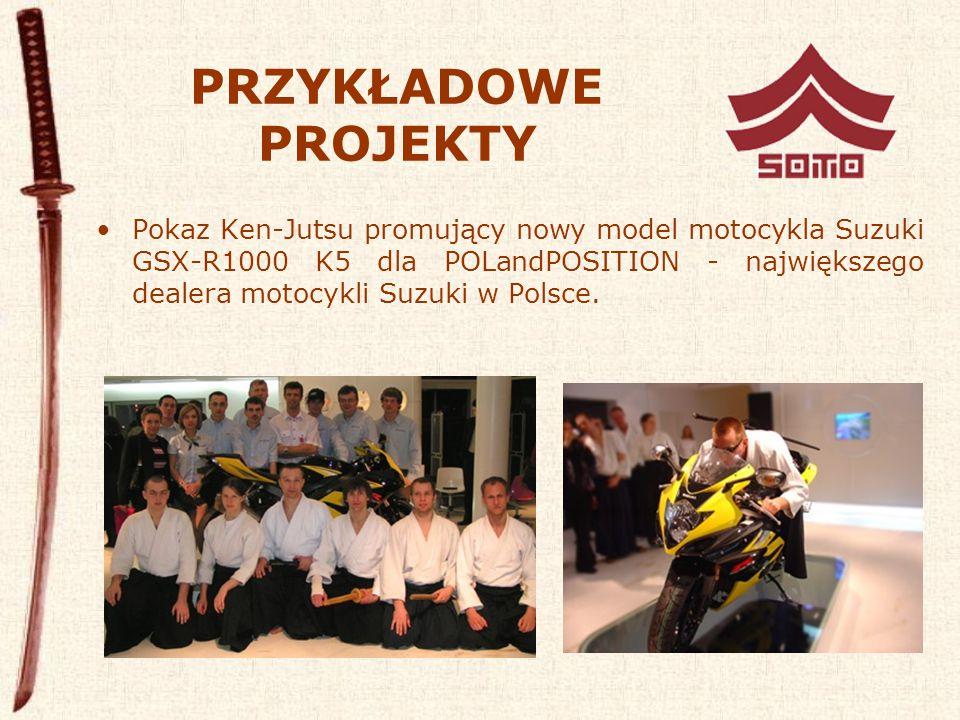 PRZYKŁADOWE PROJEKTY Pokaz Ken-Jutsu promujący nowy model motocykla Suzuki GSX-R1000 K5 dla POLandPOSITION - największego dealera motocykli Suzuki w Polsce.