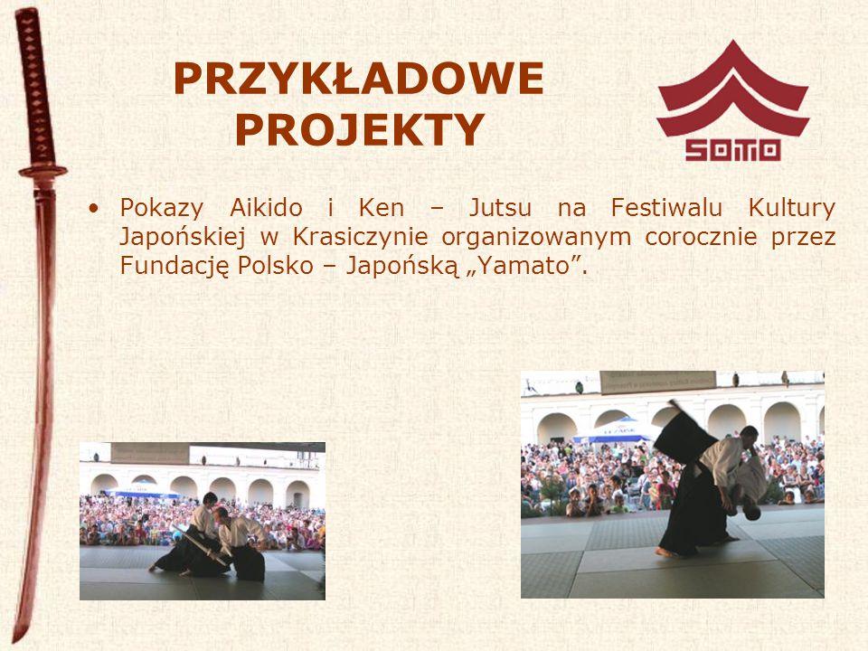 """PRZYKŁADOWE PROJEKTY Pokazy Aikido i Ken – Jutsu na Festiwalu Kultury Japońskiej w Krasiczynie organizowanym corocznie przez Fundację Polsko – Japońską """"Yamato ."""