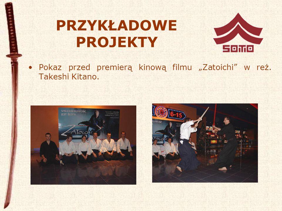 """PRZYKŁADOWE PROJEKTY Pokaz przed premierą kinową filmu """"Zatoichi w reż. Takeshi Kitano."""
