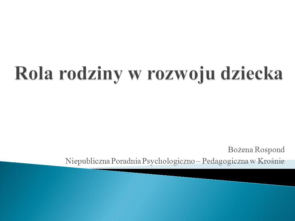Bożena Rospond Niepubliczna Poradnia Psychologiczno – Pedagogiczna w Krośnie