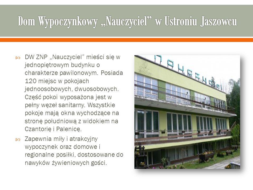 """ DW ZNP """"Nauczyciel mieści się w jednopiętrowym budynku o charakterze pawilonowym."""