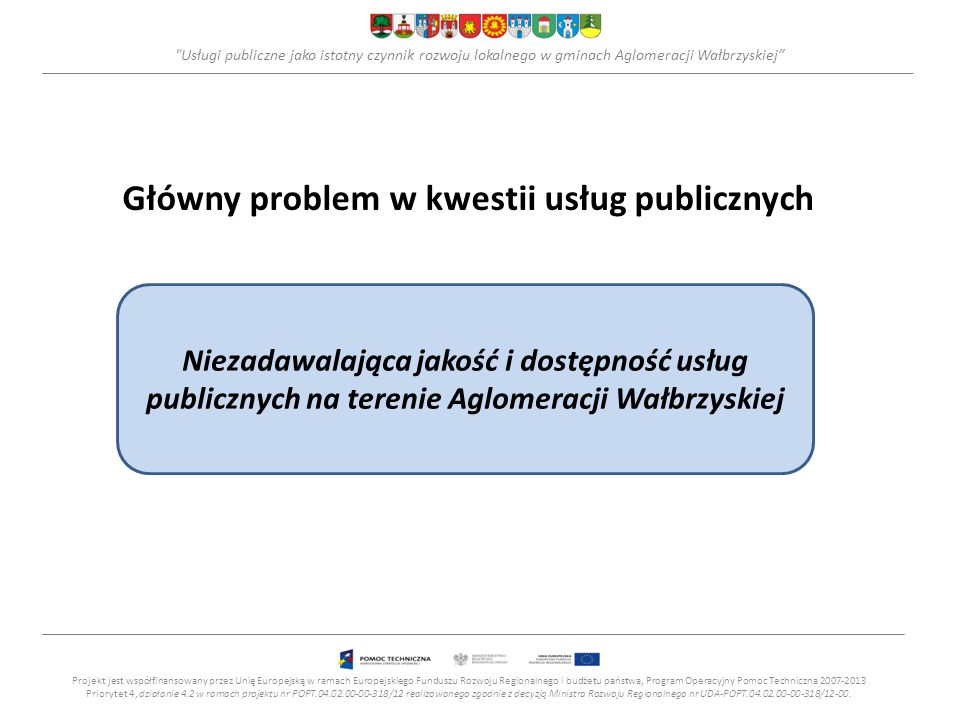 Usługi publiczne jako istotny czynnik rozwoju lokalnego w gminach Aglomeracji Wałbrzyskiej Ochrona środowiska (5) +Realizacja projektów w zakresie tworzenia centrów ochrony różnorodności biologicznej na obszarach miejskich i pozamiejskich w oparciu o gatunki rodzime np.