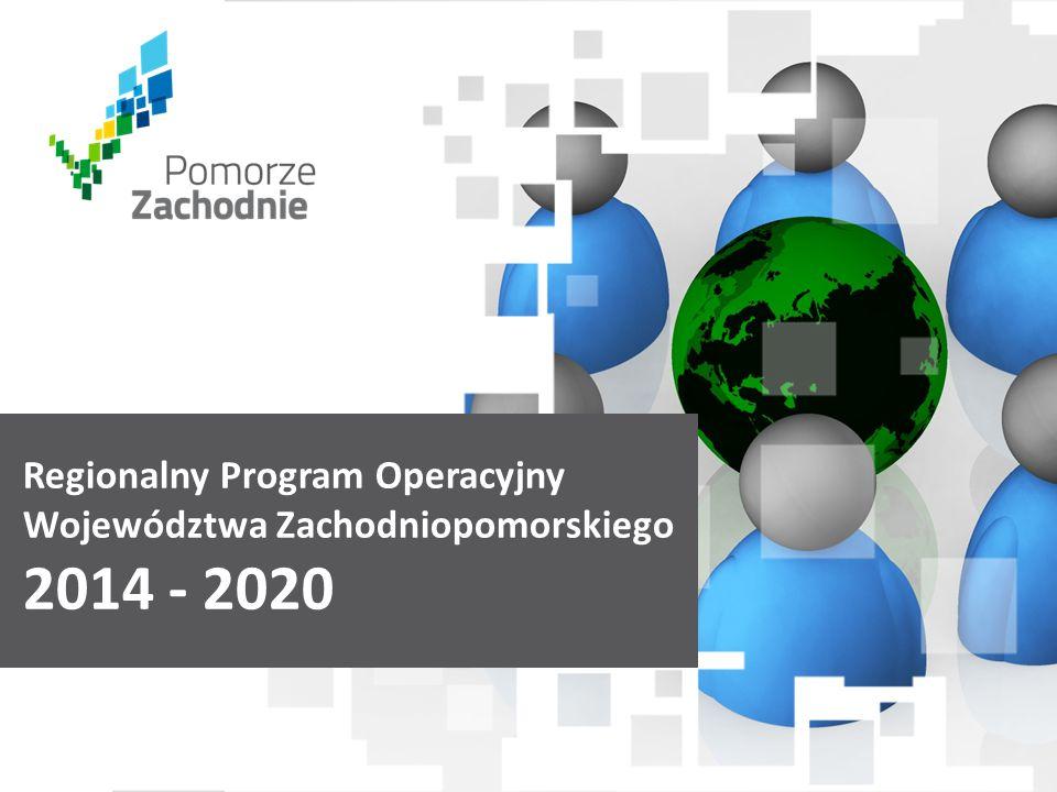 www.wzp.p l Regionalny Program Operacyjny Województwa Zachodniopomorskiego 2014 - 2020