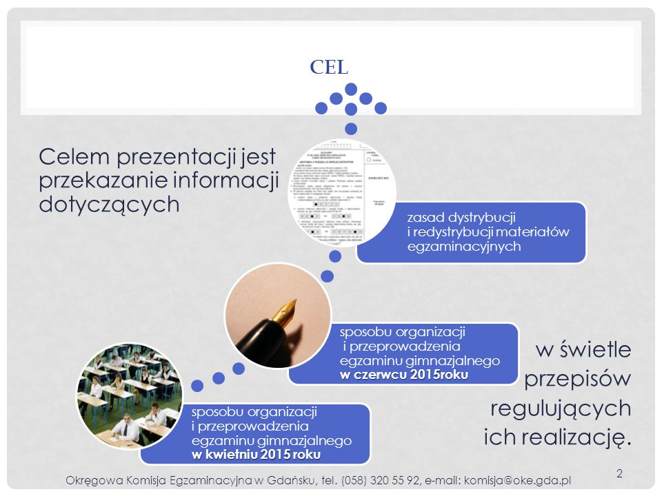 MOŻLIWOŚĆ ZMIANY PRZEZ LAUREATÓW DEKLARACJI O PRZYSTĄPIENIU DO EGZAMINU GIMNAZJALNEGO Z ZAKRESU JĘZYKA OBCEGO NOWOŻYTNEGO Okręgowa Komisja Egzaminacyjna w Gdańsku, tel.