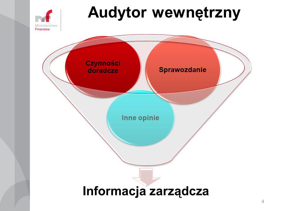 Audytor wewnętrzny Informacja zarządcza Czynności doradcze Inne opinie Sprawozdanie 4