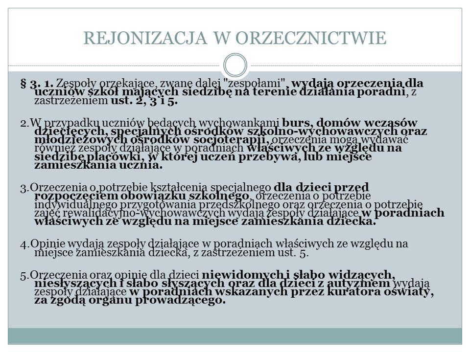 REJONIZACJA W ORZECZNICTWIE § 3.1.
