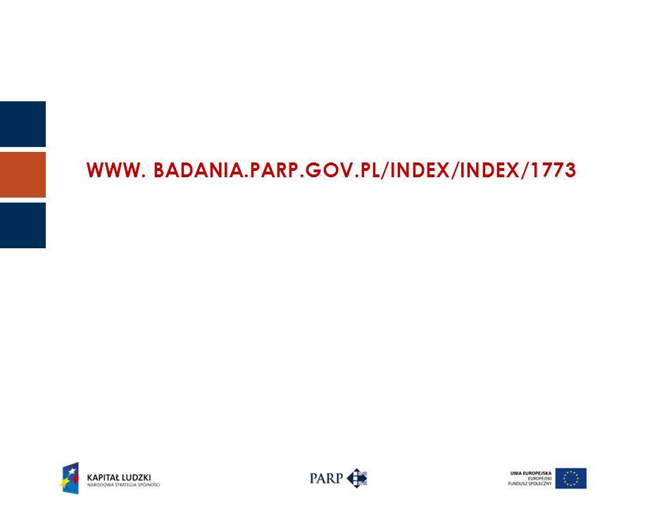 WWW. BADANIA.PARP.GOV.PL/INDEX/INDEX/1773
