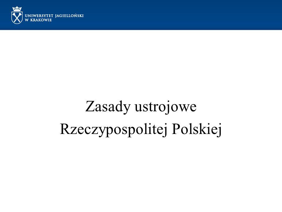 Zasady ustrojowe Rzeczypospolitej Polskiej