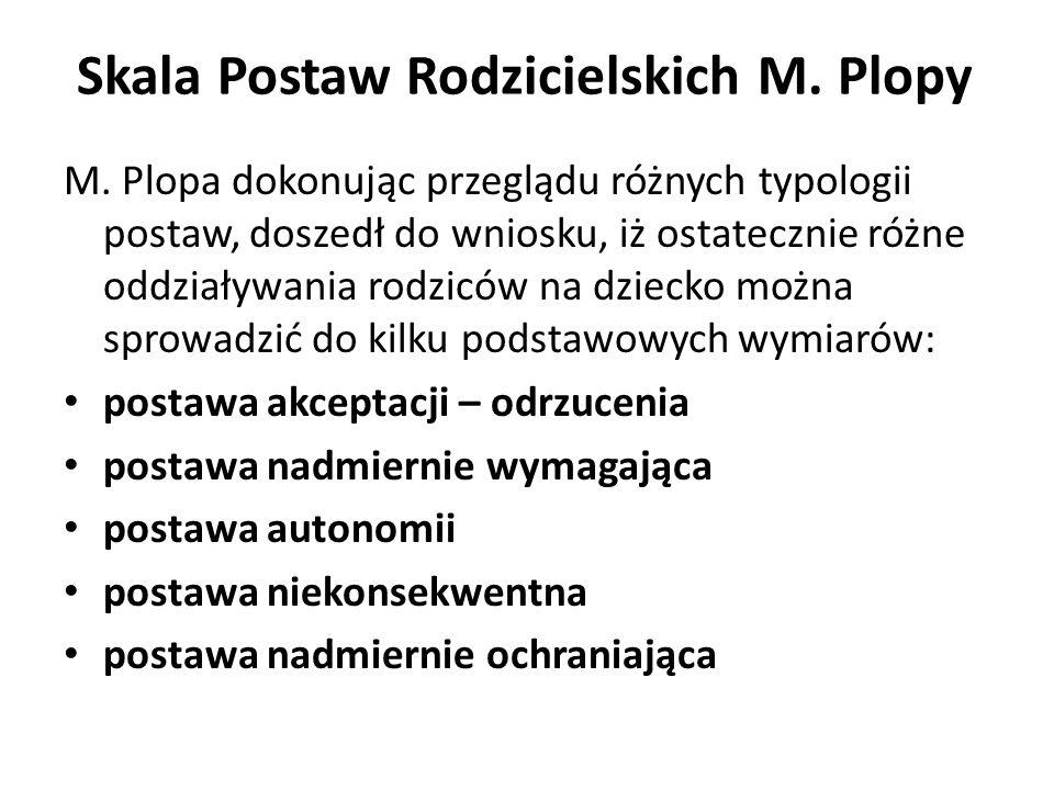 Skala Postaw Rodzicielskich M.Plopy M.