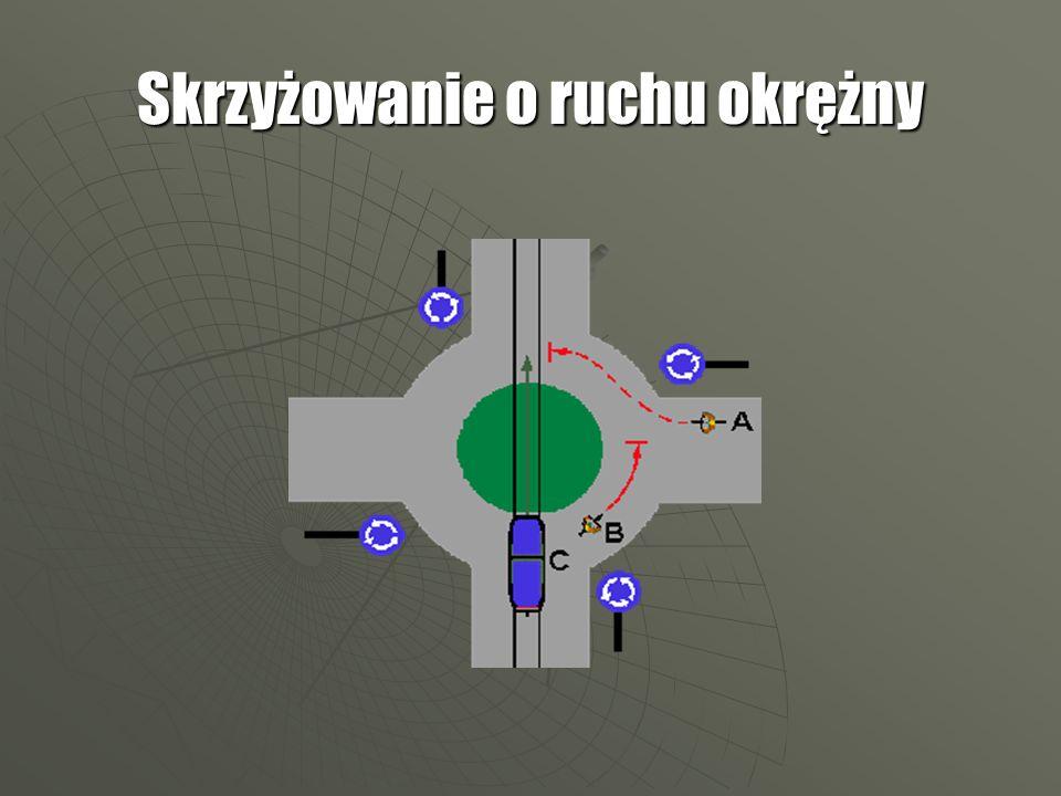 Kierującemu pojazdem zabrania się wjeżdżania na skrzyżowanie, jeżeli na skrzyżowaniu lub za nim nie ma miejsca do kontynuowania jazdy.