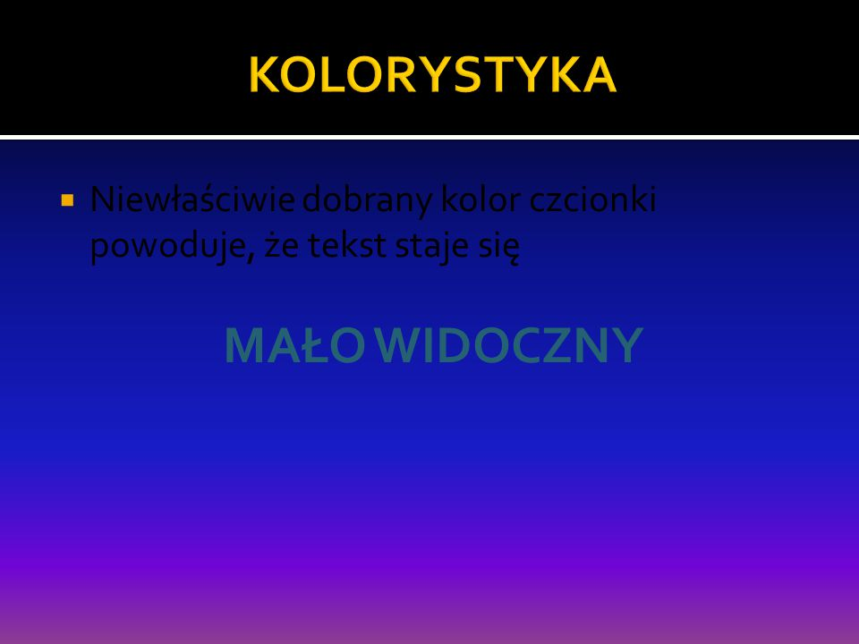 Pod koniec prezentacji powinna znaleźć się lista publikacji, stron internetowych, z których autor prezentacji korzystał
