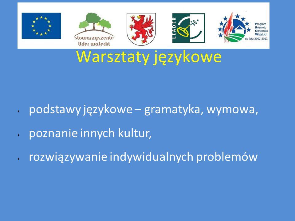 Warsztaty językowe podstawy językowe – gramatyka, wymowa, poznanie innych kultur, rozwiązywanie indywidualnych problemów