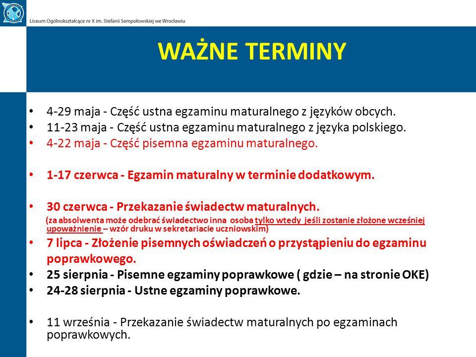 PRZYWILEJE Laureaci i finaliści olimpiad przedmiotowych znajdujących się w wykazie na rok 2015 (www.cke.edu.pl) - są zwolnieni z egzaminuwww.cke.edu.pl maturalnego z danego przedmiotu na podstawie zaświadczenia tytułu odpowiednio laureata lub finalisty.