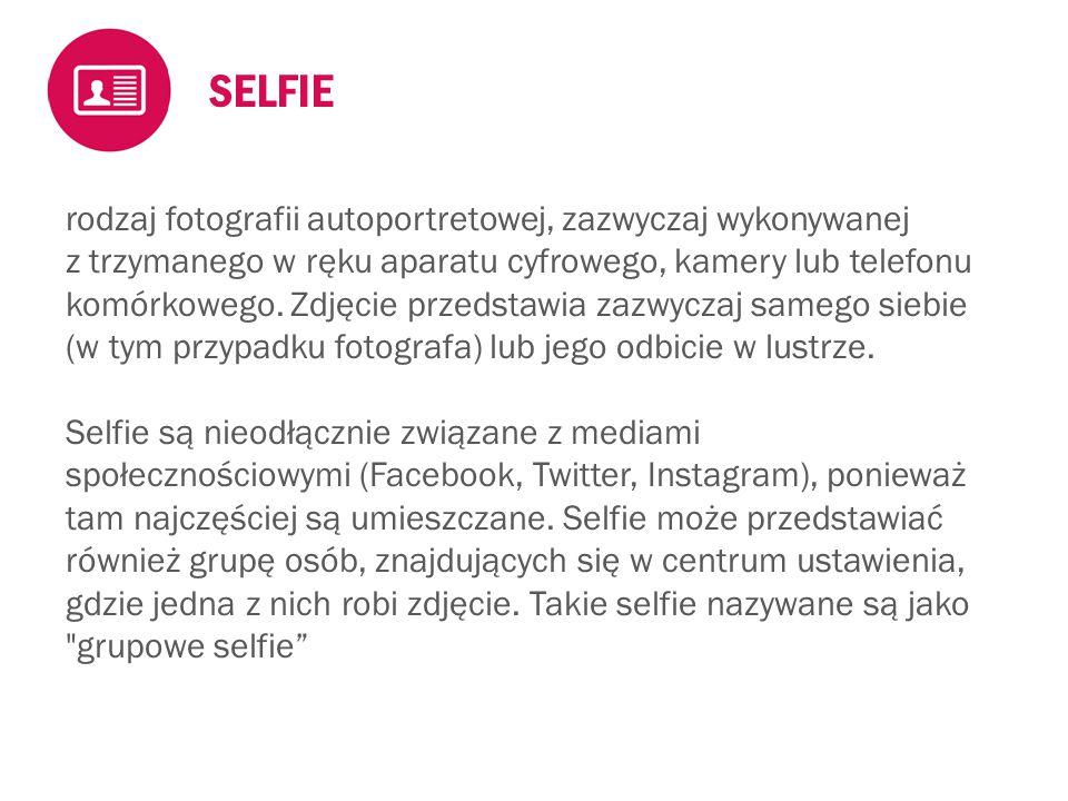  Na każdym selfie powinna być widoczna karteczka z nazwą zawodu  Wykorzystaj swój telefon lub sprzęt udostępniony przez organizatora  Selfie do zdjęcie wykonane własnoręcznie, nie oznacza to, że trzeba je robić w pojedynkę.