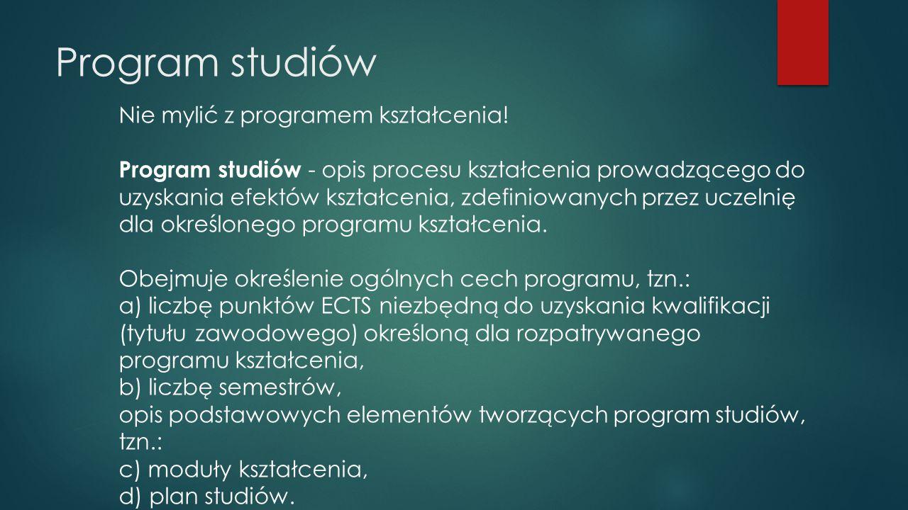 Moduły kształcenia MK stanowią podstawowe komponenty programu studiów.