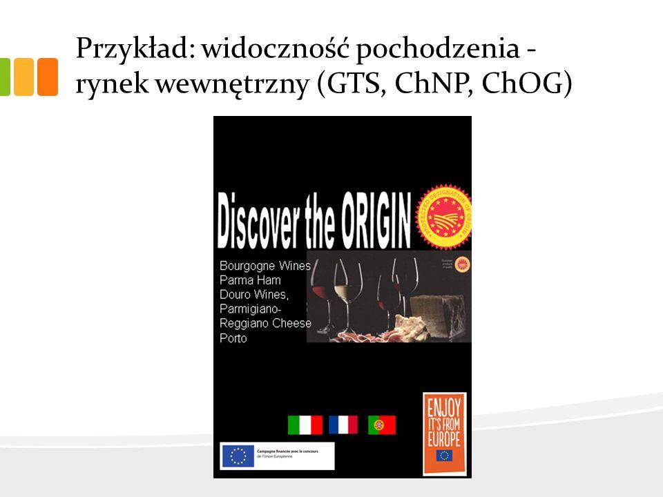 Przykład: widoczność pochodzenia - rynek wewnętrzny (GTS, ChNP, ChOG)