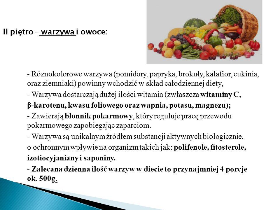 - Różnokolorowe warzywa (pomidory, papryka, brokuły, kalafior, cukinia, oraz ziemniaki) powinny wchodzić w skład całodziennej diety, - Warzywa dostarc