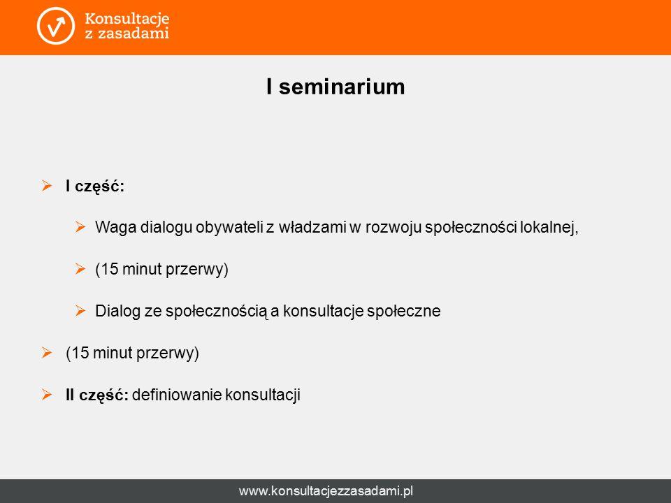 www.konsultacjezzasadami.pl Podział ról  FISE> jest tu po to, żeby pomóc wypracować, a nie samemu wypracować rozwiązania.