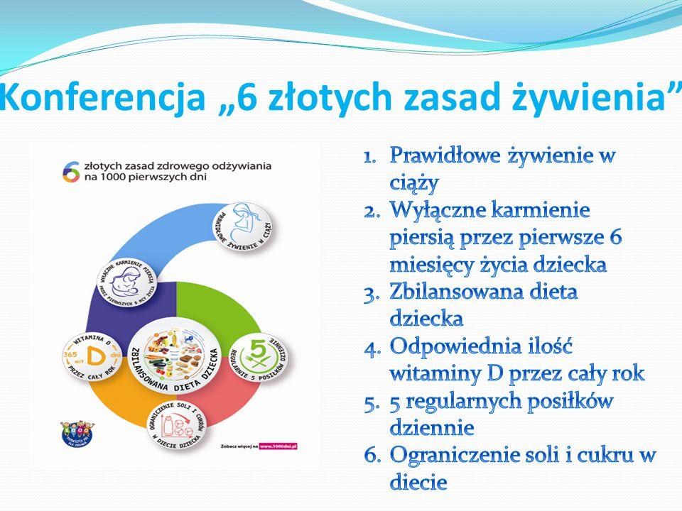"""Konferencja """"6 złotych zasad żywienia"""""""