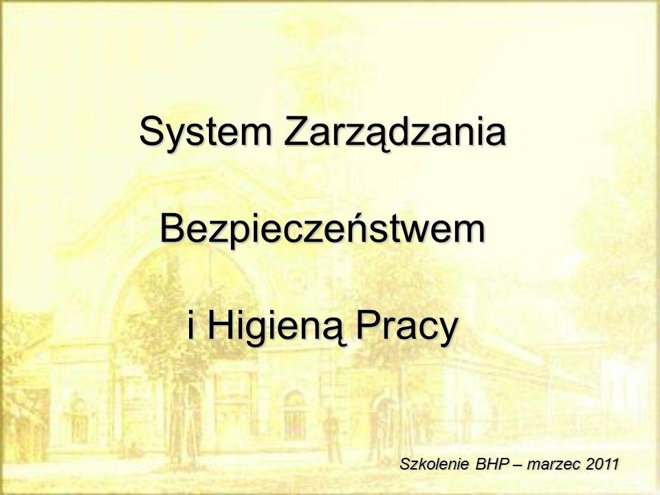 System Zarządzania Bezpieczeństwem i Higieną Pracy Szkolenie BHP – marzec 2011