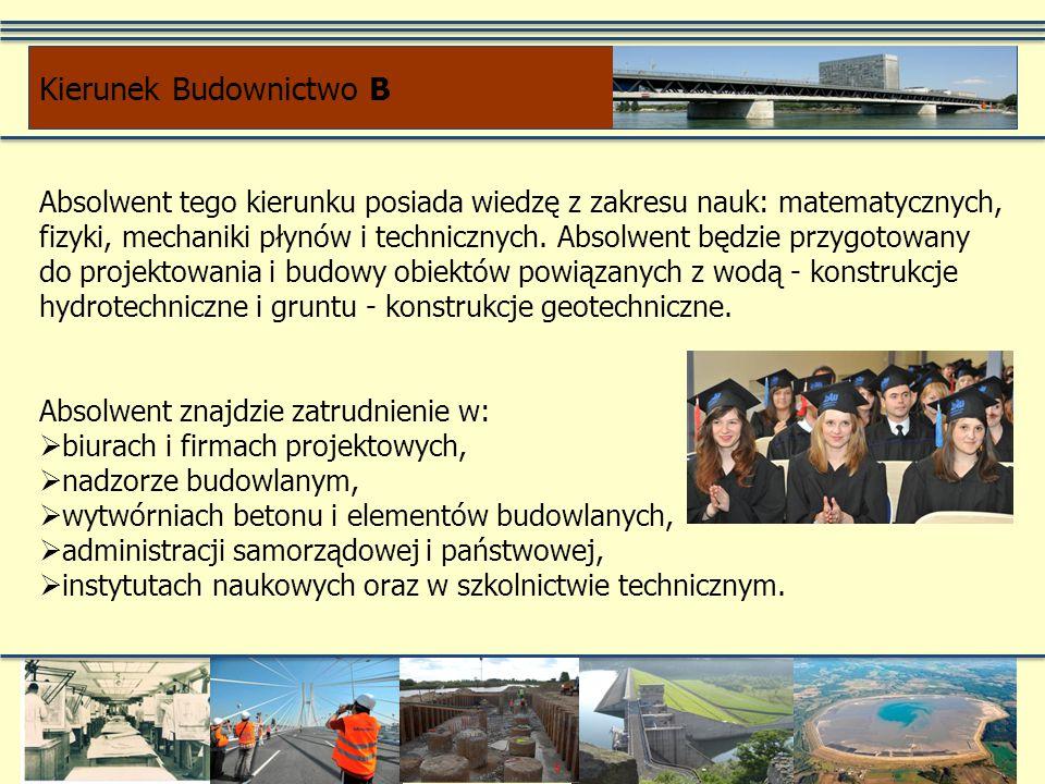 Absolwent tego kierunku posiada wiedzę z zakresu nauk: matematycznych, fizyki, mechaniki płynów i technicznych. Absolwent będzie przygotowany do proje