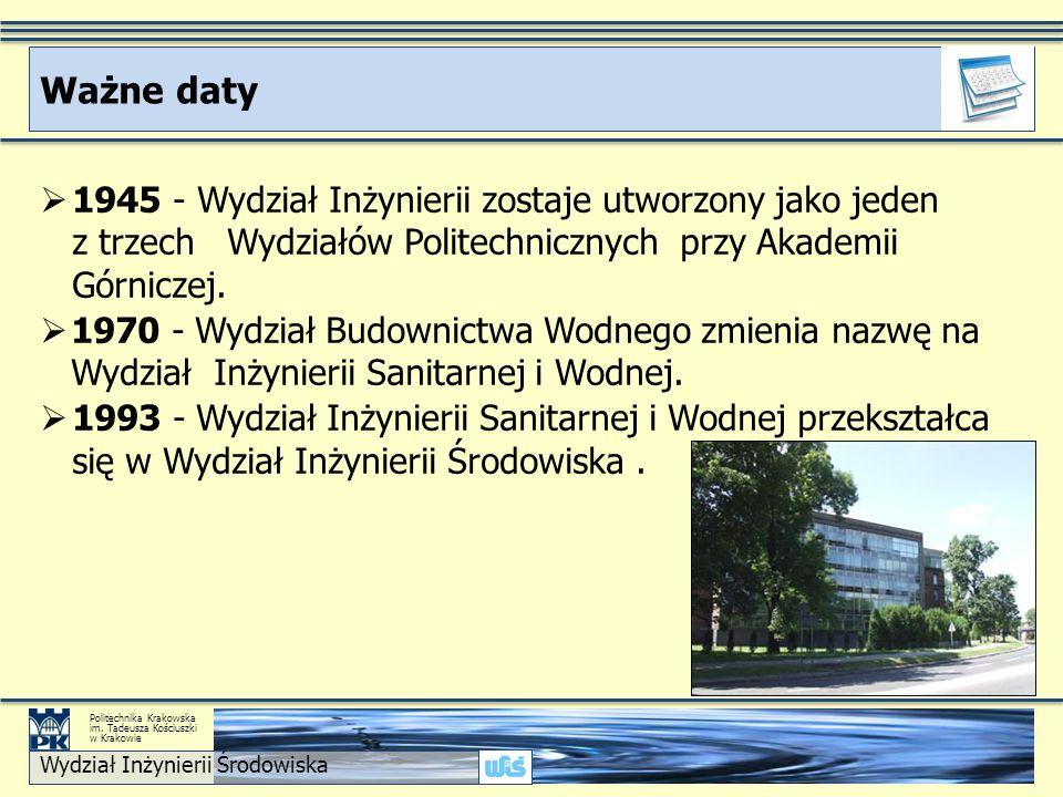 Realizowany jako: Studia I stopnia Stacjonarne Kierunek Gospodarka Przestrzenna GP Wydział Inżynierii Środowiska Politechnika Krakowska im.