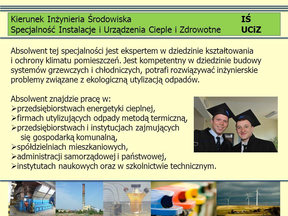Realizowany jako: Studia I stopnia Stacjonarne Kierunek Ochrona Środowiska OŚ Wydział Inżynierii Środowiska Politechnika Krakowska im.