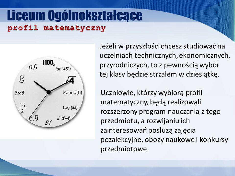 Liceum Ogólnokształcące Marzy Ci się medycyna, farmacja, biotechnologia, kosmetologia czy też ratownictwo medyczne.