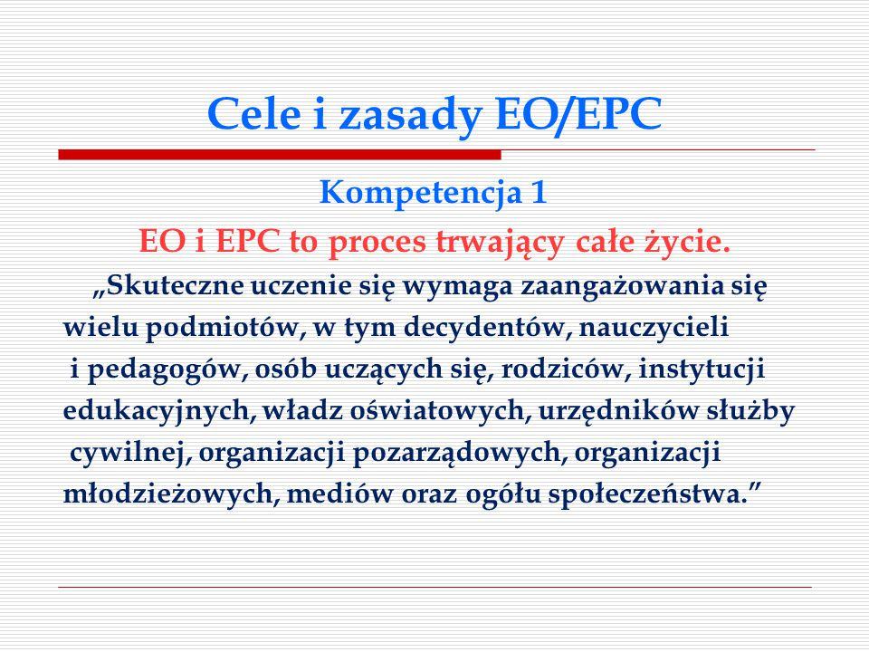 Cele i zasady EO/EPC Kompetencja 1 EO i EPC to proces trwający całe życie.