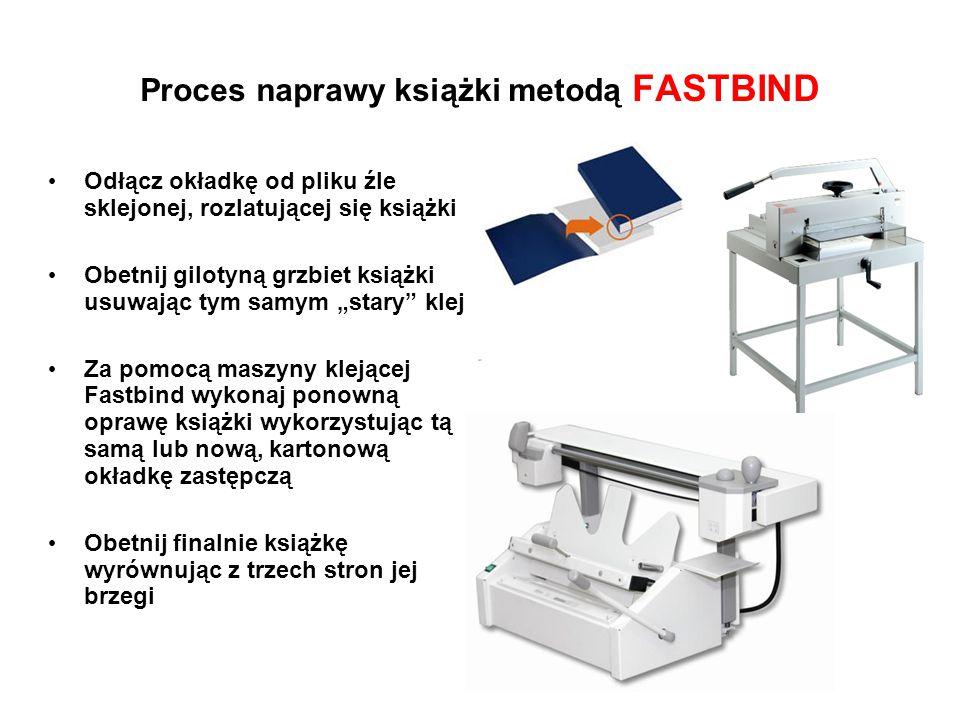 Optymalny dla biblioteki zestaw maszyn introligatorskich: Maszyna klejąca Gilotyna introligatorska Fastbind ELITE XT IDEAL 4705