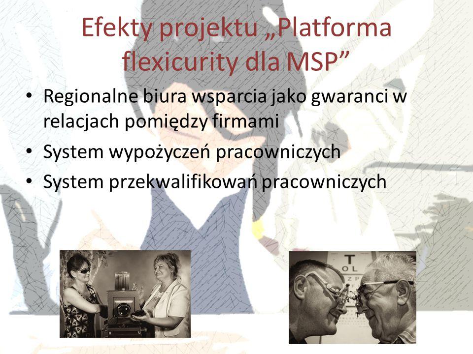 """Efekty projektu """"Platforma flexicurity dla MSP"""" Regionalne biura wsparcia jako gwaranci w relacjach pomiędzy firmami System wypożyczeń pracowniczych S"""