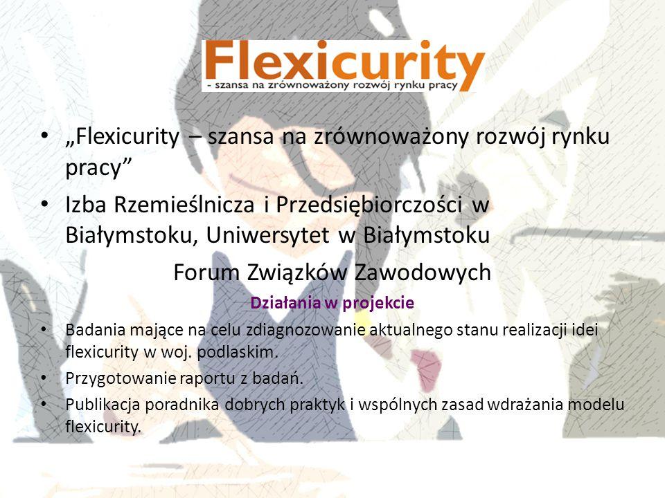 """""""Flexicurity – szansa na zrównoważony rozwój rynku pracy"""" Izba Rzemieślnicza i Przedsiębiorczości w Białymstoku, Uniwersytet w Białymstoku Forum Związ"""