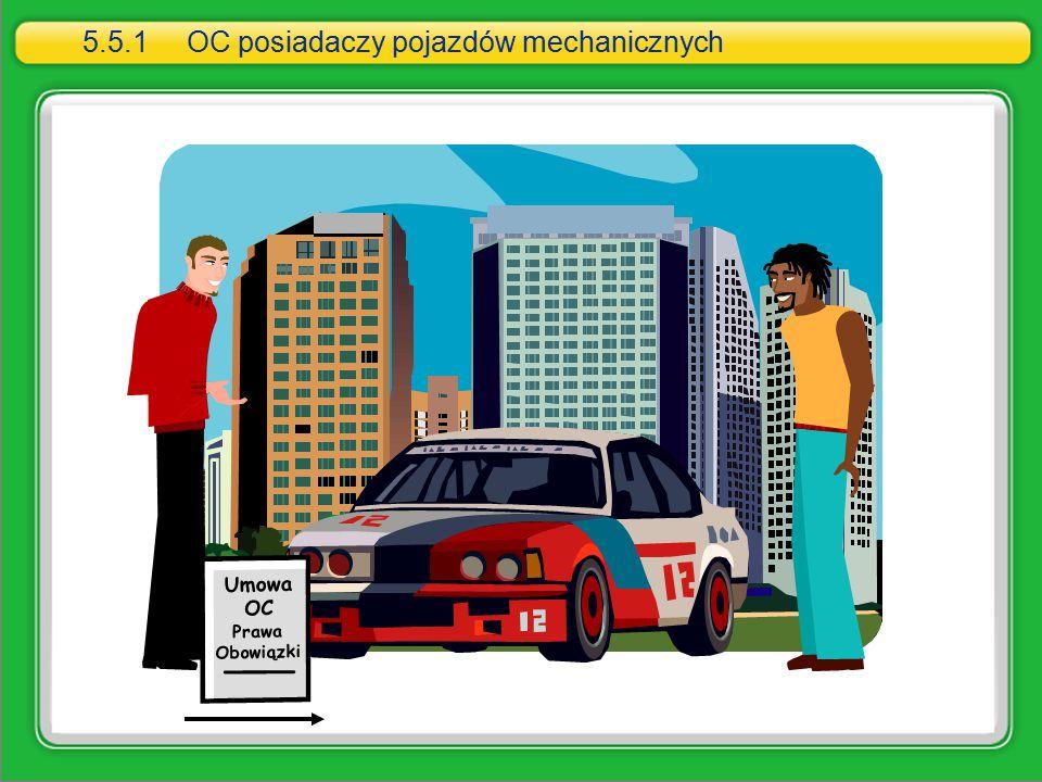 Umowa OC Prawa Obowiązki 5.5.1OC posiadaczy pojazdów mechanicznych