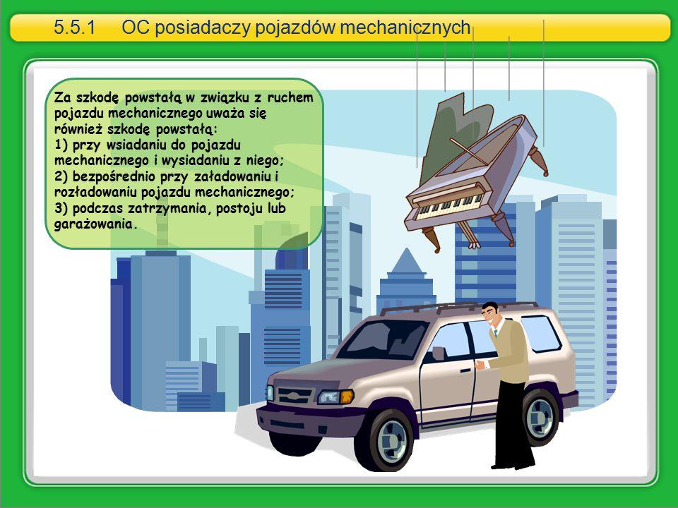 Za szkodę powstałą w związku z ruchem pojazdu mechanicznego uważa się również szkodę powstałą: 1) przy wsiadaniu do pojazdu mechanicznego i wysiadaniu