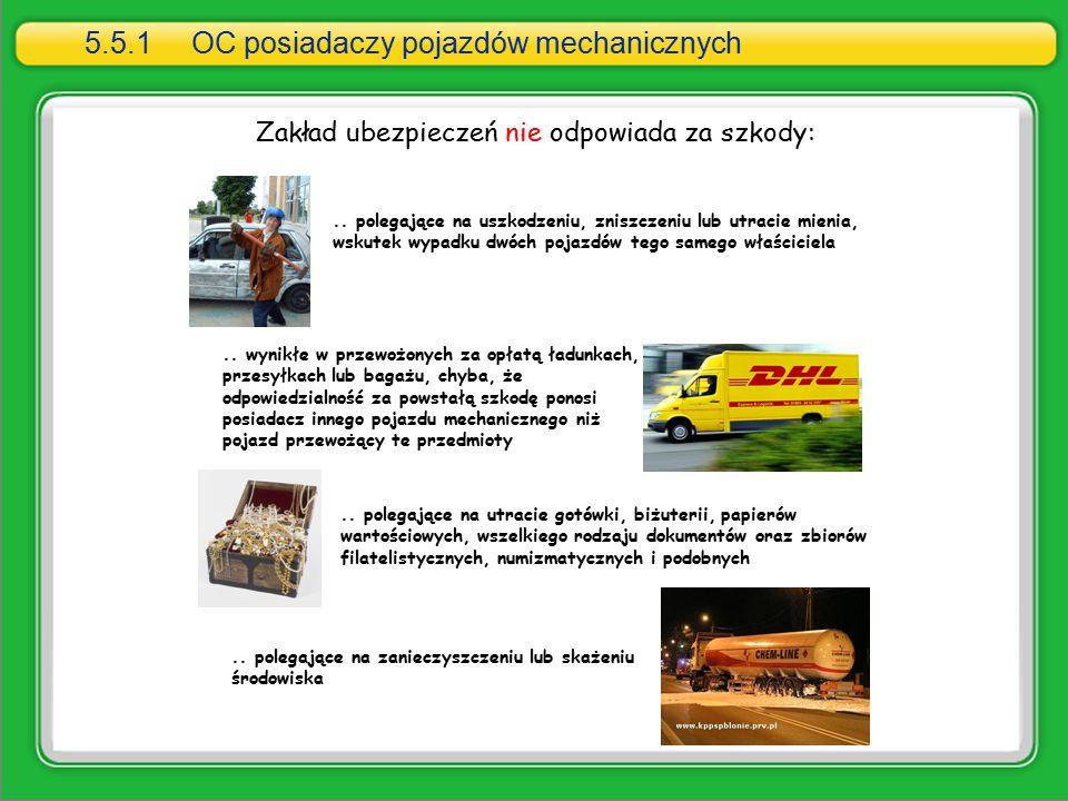 Zakład ubezpieczeń nie odpowiada za szkody:.. polegające na uszkodzeniu, zniszczeniu lub utracie mienia, wskutek wypadku dwóch pojazdów tego samego wł