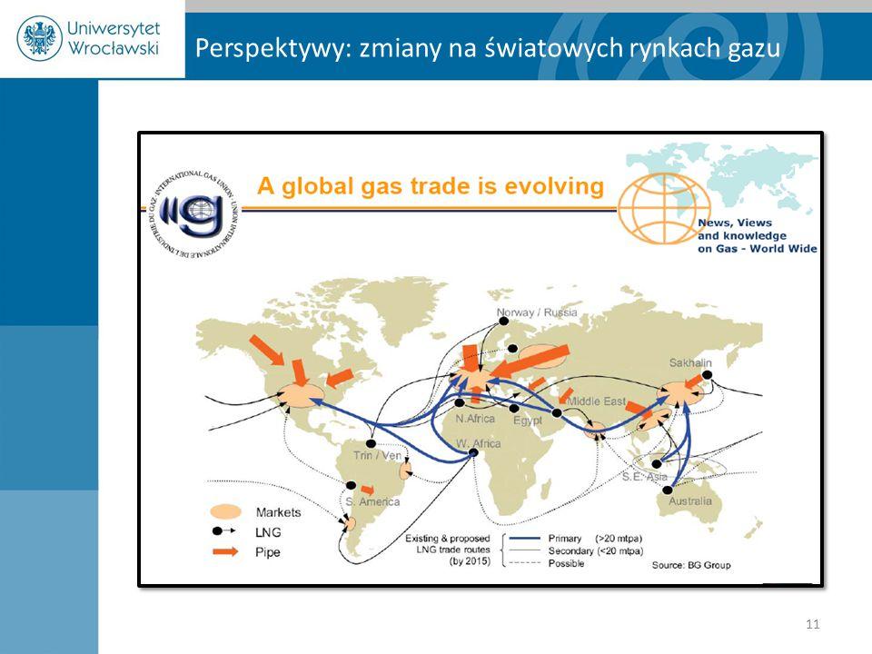 Perspektywy: zmiany na światowych rynkach gazu 11