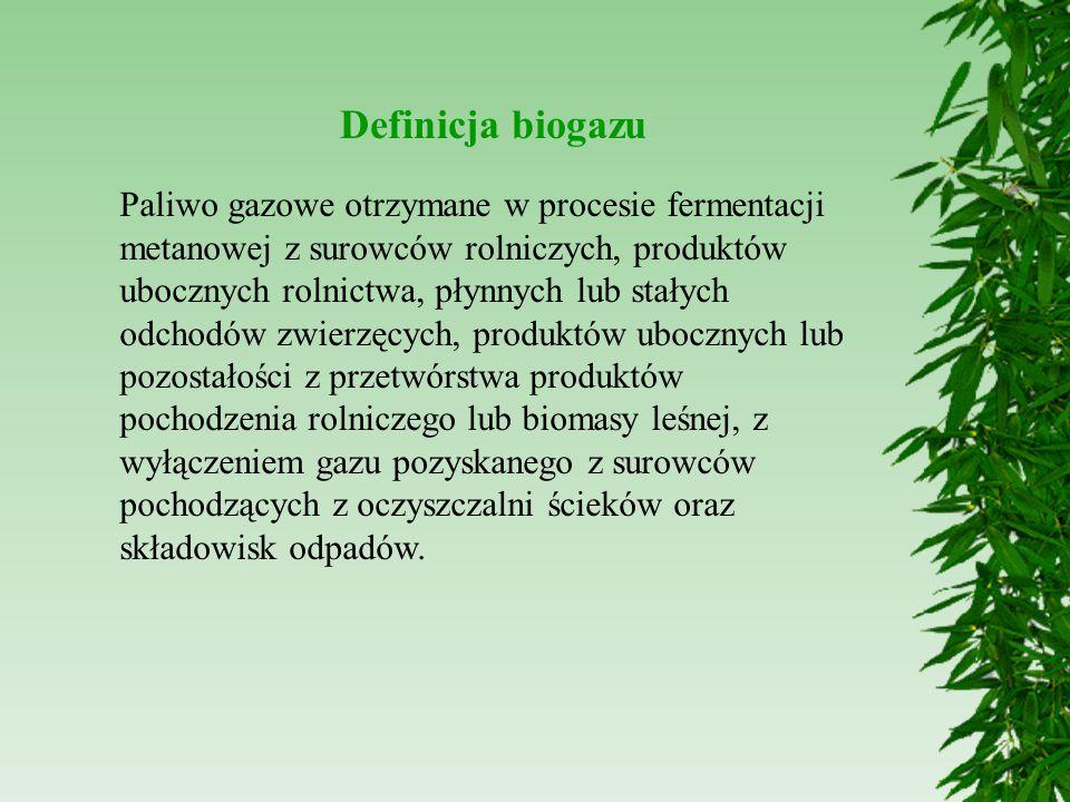 Rozwój biogazowni w Polsce  Za inwestycjami w biogazownie przemawia wysoka wydajność tych instalacji przy generatorach o tej samej mocy produkują czterokrotnie więcej energii niż farma wiatrowa  Rozwiązanie problemu utylizacji odpadów rolniczych - wykorzystanie substratów, których nie można wykorzystać w inny sposób  Ograniczenie emisji do gleby i powietrza toksycznych substancji, takich jak siarkowodów, metan czy amoniak  Bakterie fermentacyjne neutralizują ponad 90% szkodliwych substancji występujących w różnego rodzaju substratach  Bezpieczeństwo energetyczne -elektrownie węglowe zapewniają do 80% proądu  Biogazownia o mocy 250 kW może zapewnić stałe dostawy prądu dla 3- tysięcznego miasteczka