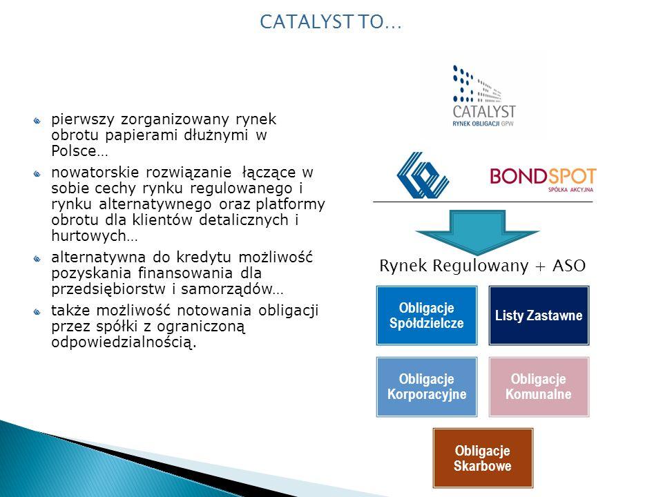 pierwszy zorganizowany rynek obrotu papierami dłużnymi w Polsce… nowatorskie rozwiązanie łączące w sobie cechy rynku regulowanego i rynku alternatywnego oraz platformy obrotu dla klientów detalicznych i hurtowych… alternatywna do kredytu możliwość pozyskania finansowania dla przedsiębiorstw i samorządów… także możliwość notowania obligacji przez spółki z ograniczoną odpowiedzialnością.