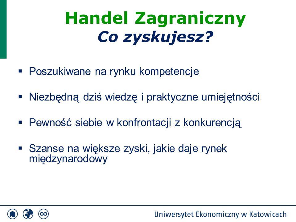  Jesteś przygotowany do pracy zarówno w małych i średnich polskich oraz zagranicznych przedsiębiorstwach jak i dużych korporacjach międzynarodowych  Tworzysz własną firmę wykorzystując możliwości rynku polskiego, europejskiego i globalnego  Realizujesz swoje ambicje pracując w instytucjach, organizacjach krajowych (rządowych lub pozarządowych) jak i międzynarodowych (np.