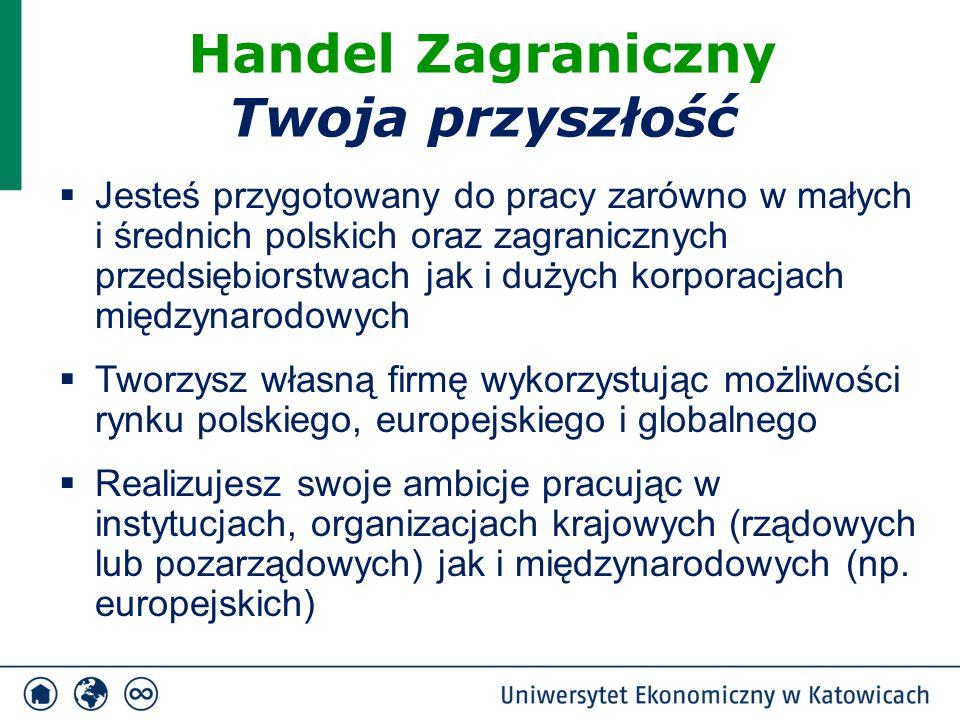  Jesteś przygotowany do pracy zarówno w małych i średnich polskich oraz zagranicznych przedsiębiorstwach jak i dużych korporacjach międzynarodowych 