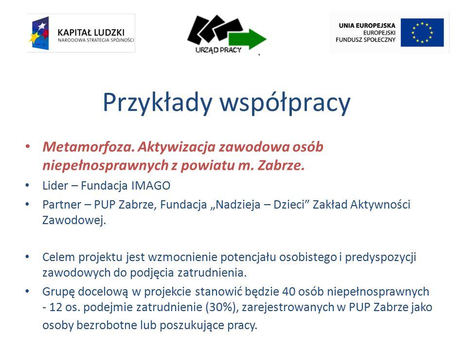 Przykłady współpracy Metamorfoza. Aktywizacja zawodowa osób niepełnosprawnych z powiatu m.