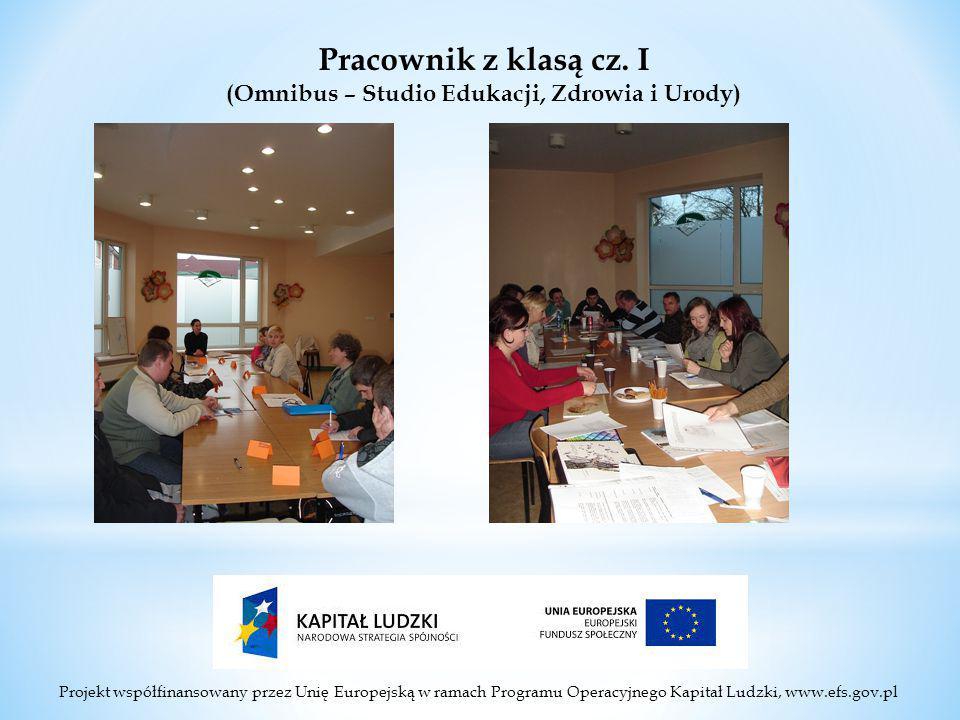 Projekt współfinansowany przez Unię Europejską w ramach Programu Operacyjnego Kapitał Ludzki, www.efs.gov.pl Pracownik z klasą cz.