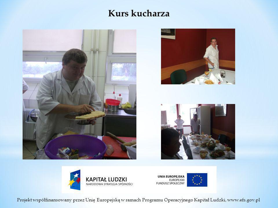 Projekt współfinansowany przez Unię Europejską w ramach Programu Operacyjnego Kapitał Ludzki, www.efs.gov.pl Kurs kucharza